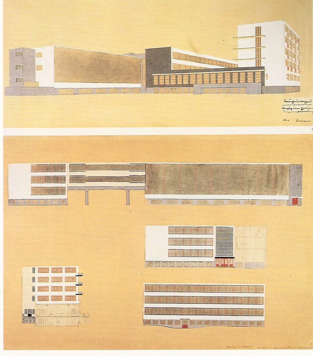 bauhaus dessau building drawings gropius the charnel house. Black Bedroom Furniture Sets. Home Design Ideas