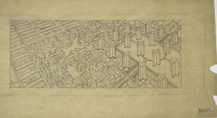 Ville Contemporaine De Trois Millions D Habitants Sans Lieu 1922 B The Charnel House