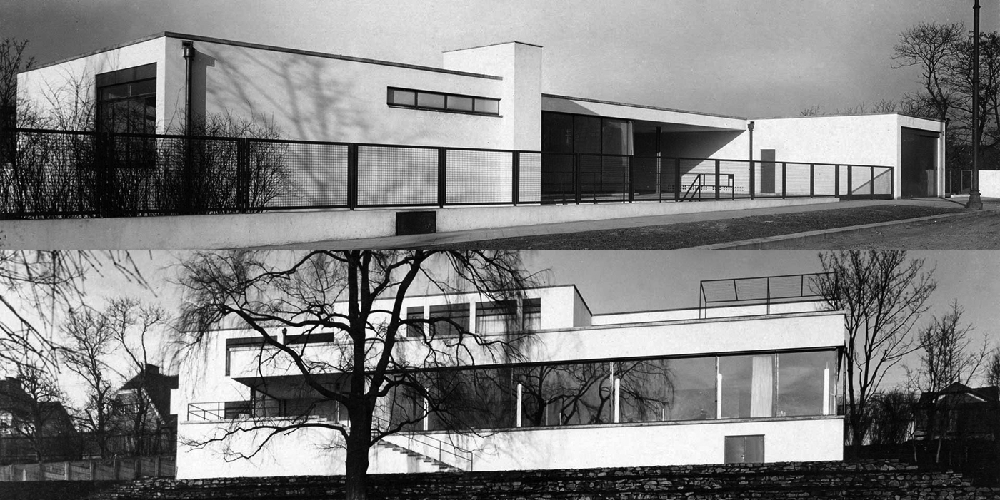exterior view tugendhat house by ludwig mies van der rohe. Black Bedroom Furniture Sets. Home Design Ideas