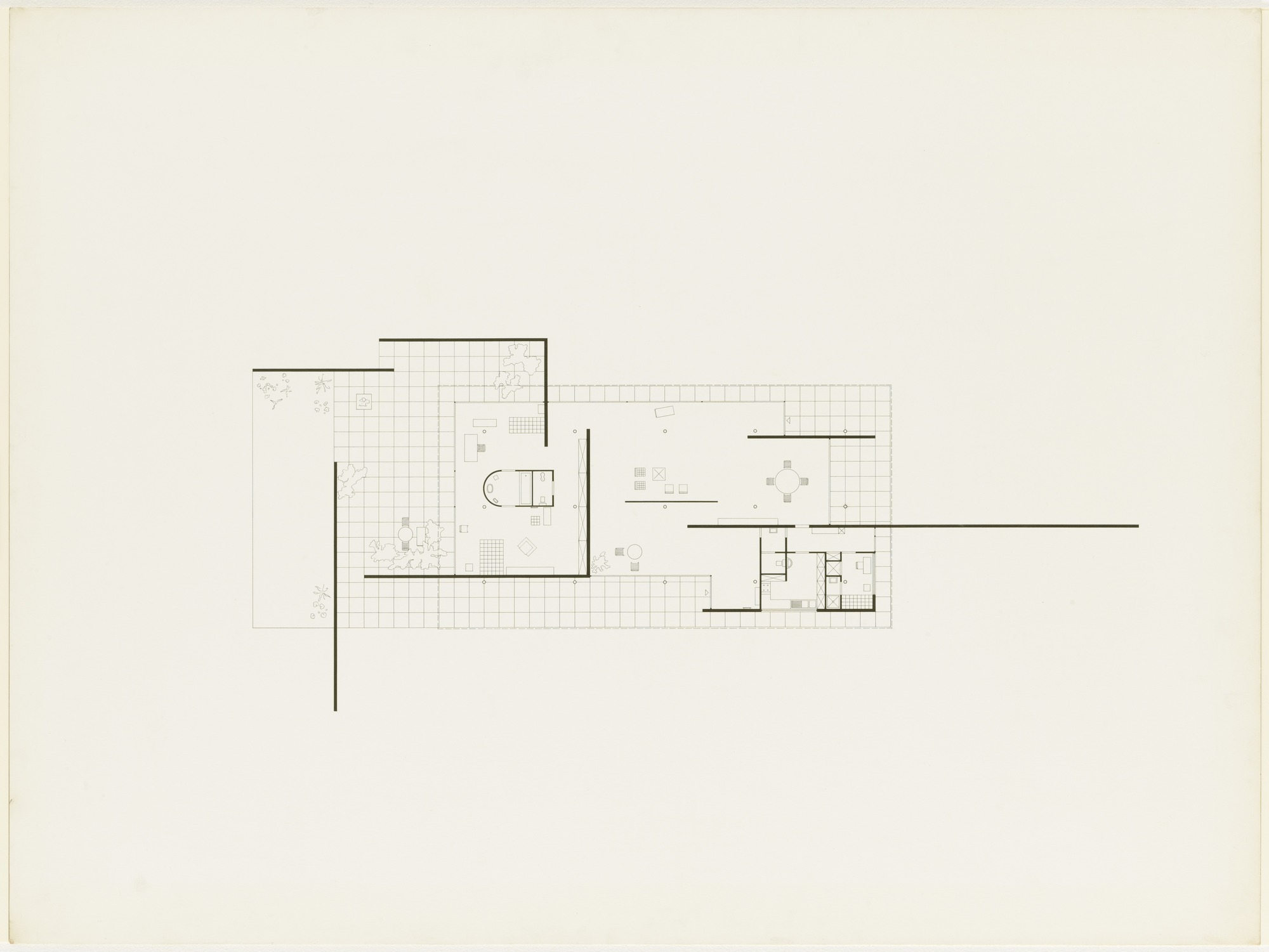 ludwig-mies-van-der-rohe-exhibition-house-german-building ... |Mies Van Der Rohe Plan